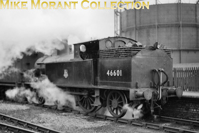 Janusry 31st 1953 was the last day of passenger services at Aylesbury High Street station with Webb 1P 2-4-2T no. 46601 doing the honours. [Mike Morant collection]