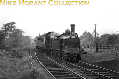 SLS: Birmingham New Street Centenary Tour 2/6/54 LNWR Webb coal tank no. 58903 was the sole motive power for this tour which was run , also, on the evening of the first.  Jonathan Howell came up with what I think is one hell of a spot which is that the train is entering Rubery station on the Halesowen Railway. 58903 might well have been expelling its last breath as withdrawal was from Monument Lane mpd in this very month of June 1954.
