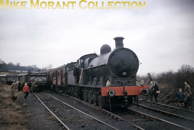 SLS: Farewell to LNWR Locomotives Rail Tour 12/12/64 LNWR Bowen Cooke 'Super D' 0-8-0 no. 49361 at Kingsbury colliery.