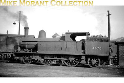 LNWR Webb designed 1P class 2-4-2T no. 46701 at Bangor shed which was where it was allocated from 7/52 until withdrawal in February 1953. [Mike Morant collection]