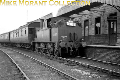 RCTS: Inter Regional Ramblers Special 10/10/54 LNWR Webb 0-6-2T Coal Tank is shown here at Cheddington prior to departure for Aylesbury High Street. [Mike Morant collection]