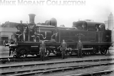 LTSR 4-4-2T no. 23 Laindon, nominally a Whitelegg design, was built by Sharp Stewart with works no. 3221 in 1885 and went through several renumbering processes during its working life. When the Midland Railway absorbed the LTSR in 1912 Laindon became its no. 2132. The LMSR subsequently applied the no. 2197 and a further change came in 1930 to 2074 although whether or not that was actually applied is debatable as this loco was withdrawn from LMS service in that same year. [Mike Morant collection]