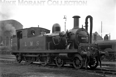 Former LTSR 4-4-2T no. 2 Gravesend, nominally a Whitelegg design, was built by Sharp Stewart with works no. 2881 in 1880 and went through several renumbering processes during its working life. When the Midland Railway absorbed the LTSR in 1912 .Gravesend became its no. 2111. The LMSR subsequently applied the no. 2201 and a further change came in 1930 to 2078 as shown in this shot taken at Plaistow mpd on 13/5/1931. No. 2078 would be withdrawn from LMS service in 1935. [H. C. Casserley / Mike Morant collection]