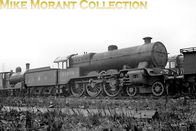 Lancashire & Yorkshire Hughes designed 4-cylinder 'Dreadnought' 4-6-0 no 10456 at Horwich following withdrawal in March 1936. This engine had a working life of just short of 12 years having been built as recently as June 1924. [Mike Morant collection]