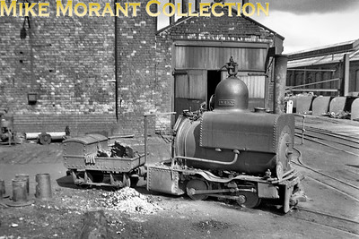 """The Lancashire & Yorkshire Railway had an extensive 18"""" narrow gauge sytem that served their Horwich works internally. Built in 1887 by Beyer Peacock WREN is the best known of the locomotive fleet and continued in service until 1961. Preservation followed and  WREN is an exhibit at the NRM in York which followed several years being exhibited near the entrance to the Clapham Museum of Transport in London. [Mike Morant collection]"""
