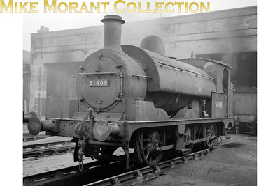 Rebuilt L&YR Aspinall 2F 0-6-0ST no. 51408, a Kitson product, at 26C Bolton shed where it would reside until transfer to 26B Agecroft in November 1961 followed by withdrawal in february 1962. [Mike Morant collection]