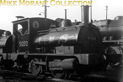 Aspinall 'Pug' 0-4-0ST no. 51232 was BR numbered in May 1949 and that was probably when this shot was taken. The likelihood is that the location is Bank Hall shed where 51232 was based at that time. [Mike Morant collection]