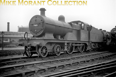 Depicted here at Derby Loco is LMSR ex-Midland Railway Johnson 3P class 4-4-0 No. 723 which was built at Derby in November 1902 and entered service with fleet no. 813 but had quite a short working life as it was withdrawn at Nottinghman mpd in June 1939. [Mike Morant collection]