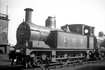 Midland Railway Johnson designed  1F class  0-6-0T no. 1779 was built at Derby in 1890 and would survive well into the BR era being withdrawn as BR no. 41779 at 36A Doncaster in June 1957.