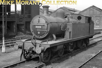 Whitelegg designed ex-LTSR class 51 2P 4-4-2T No. 2099 bearing a 16A Nottingham shed plate on the smokebox door. 2099 entered service in 1900 as LTSR No. 58 with the name Hornsey Road and remained in service until 1951.