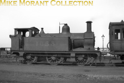 Johnson designed Midland Railway class 1102 0-6-0T no. 1653 was built in 1875 by Vulcan Foundry and was withdrawn by the LMS in 1931. Date and location not stated on the sleeve. [Mike Morant collection]