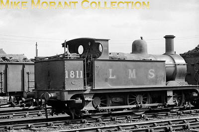 Midland Railway Johnson designed 1F class 0-6-0T no. 1811 at Cricklewood mpd on 19/3/50. Dating from 1890, 1811 would be BR branded in October 1951, reallocated to Stourton in the November and withdrawn as BR no. 41811 at 20B in August 1954. [Mike Morant collection]