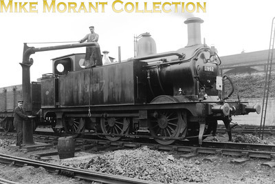 Midland Railway Johnson designed 0-6-0T No. 1907 was the forerunnmer of what we've come to know as the Jinties. The design originated in 1899, the year that this example was built not by Derby but by Vulcan Foundry. The original MR number was probably 2447 but the MR renumbered her 1907 ironically in 1907. In LMSR days Fowler rebuilt the class with Belpaire fireboxes and the 1930's saw a further renumbering so that this example became 7207 which was perpetuated in BR days with the addition of the '4' prefix. 47207 served the railway for 65 years and was withdrawn from Newton Heath mpd in 1964. The shed plate clearly visible here is 16 which, I think, was Altrincham.