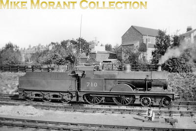 Former Midland Railway Johnson designed 4-4-0 no. 710 at Cheltenham in 1938. Designated 3P by the LMSR, no. 701 was built at Derby in 1902 and would be withdrawn in 1941 whilst allocated to Saltley depot. [Mike Morant collection]