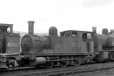 Former NLR 0-6-0T no 27517 was built at the company's Bow Works in 1900 and is depicted here far from home at Birkenhead mpd on 29/5/49. however, by then renumbered as BR 58857, it would return to Devons Road (Bow) and be withdrawn there in April 1958.
