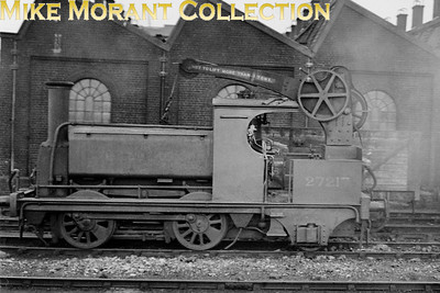 A less than brilliant shot of a crane tank, a type of loco which most steam enthusiasts find fascinating. The background data I had to hand was open to correction but Chris McDermott has kindly filled in most of the blanks: No 27217 was built by Sharp Stewart in 1858 as an 0-4-0 for the North and South Western Junction Railway and was rebuilt as an 0-4-2CT at Bow Works in 1872 at which time she was numberless being named 'STEAM CRANE'. She was numbered 2896 by the LNWR in 1922, and subsequently renumbered 7217 by the LMSR in 1923. The '2' prefix was later applied by the LMSR which is how we see her depicted here at Devons Road shed on July 9th, 1939. She remained in service until February 1951 and was allotted BR no. 58865 which was applied in March 1949.
