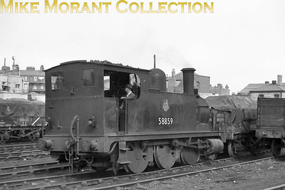 Former North London Railway 2F 0-6-0T no. 58859 at Devons Road, Bow. [Mike Morant collection]