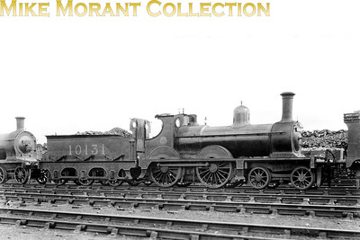 This aesthetically pleasing 4-4-0 with LMSR no. 10131 was designed and built by Sharp, Stewart & Co. for the Furness Railway entering service as that railway's no. 120 in 1891. The FR classification was '120 class' but an author later classified them as K1's whilst the populists would probably prefer to use their nickname 'Seagulls'. This shot was allegedly taken in 1924 but in common with most smaller class members from the LMSR's combined railways it didn't suvive long and was withdrawn in 1927. [Mike Morant collection]