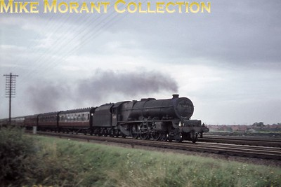Stanier 'Princess' pacific no. 46208 Princess Helena Victoria at speed near Bletchley on August 19th, 1961.