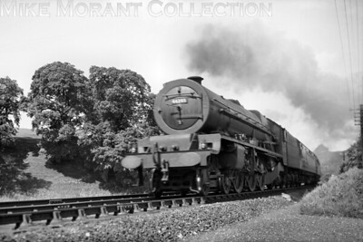 A powerful shot of Edge Hill allocated LMSR Stanier Princess class 4-6-0 no. 46203 Princess Margaret Rose in charge of a Scotch (sic) express.