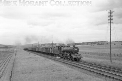 Stanier Princess class pacific no. 46200 Princess Royal ihauling the 16.45 ex-Perth fish train at Forteviot on 11/6/62. This was taken in the last few months of this engine's career as it would be withdrawn from 12A Carlisle Kingmoor in November of the same year. [Mike Morant collection]
