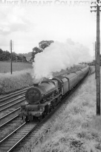 Not the best shot of a Stanier 'Princess' Royal' pacific but there will be more and better examples to follow. No. 46208 Princess Helena Victoria is depicted here at Dudswell on 13/6/60. No. 46208 was a long-term resident of Liverpool's Edge Hill mpd when this shot was taken and would remain there until withdrawal in October 1962.
