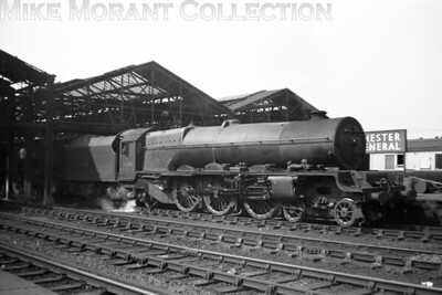 Crewe North allocated Stanier 'Princess Royal' class pacific no. 46209 Princess Beatrice awaits departure from Chester General on July 1st, 1955.