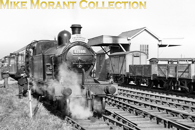 REC: The Charnwood Forester / Bedford & Hitchin Branch Centenarian 14/4/57 Former GNR Ivatt C12 class 4-4-2T no. 67380 hauled this tour from Holme to Ramsey North and back and this shot was taken at the latter location 67380 was a New England engine at the time and would be withdrawn there in May 1958.. [Mike Morant collection]