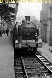 RCTS: Marylebone to Broad Street 10/10/53 Former GNR Ivatt N1 condensing 0-6-2T no. 69441 at Marylebone station. [Mike Morant collection]