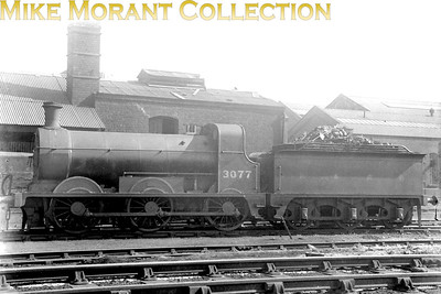 Former Hull & Barnsley Railway B class 0-6-0 no. 3077 is depicted here with H&BR branding on the tender. No. 3077 was a Matthew Stirling designed engine built by Yorkshire Engine Co. in 1892 for the H&BR. Absorption into LNER stock also brought its class deisgnation into line with that company's policy and so it becamed designated as a J23. Withdrawal came in November 1935 Malton mpd.
