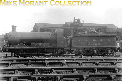 Former Hull & Barnsley Railway B class 0-6-0 no. 3060 is depicted here just after the 1923 grouping with the unusual use of an ampersand in the LNER's title displayed on the tender. No. 3060 was a Matthew Stirling designed engine built by Kitson of Leeds in 1892 for the H&BR. Absorption into LNER stock also brought its class deisgnation into line with that company's policy and so it became designated as a J23. Withdrawal came in May 1937 at Hull Dairycoates mpd.
