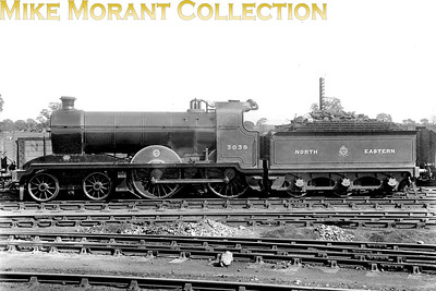 Painted in the shortlived NER livery, Hull & Barnsley Railway 4-4-0 no. 3038 was a Matthew Stirling design dating from 1910 and built by Kitson. The class was originally designated as 'J' but later as 'D24' and all five of the class were withdrawn in the period 1934 - 1936. [Mike Morant collection]