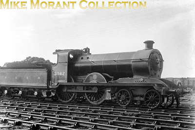 Hull & Barnsley Railway 4-4-0 no. 3042 was a Matthew Stirling design dating from 1910 and built by Kitson. The class was originally designated as 'J' but later as 'D24' and all five of the class were withdrawn in the period 1934 - 1936. [Mike Morant collection]