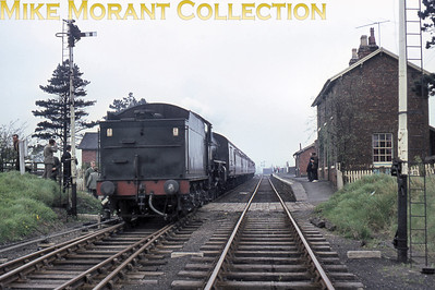 "RCTS: The North Eastern Limited 2/5/64 The bugbear of all film collectors is the odd one that has no obvious clues to identity, location or date of which this is one. The loco is allegedly (according to the slide mount) Thompson B1 no. 61031 Reedbuck and Vic Smith has kindly delved into his archive to answer the questions: ""The station is Battersby, looking north. The locomotive appears to be running round stock as no lamps are visible."""