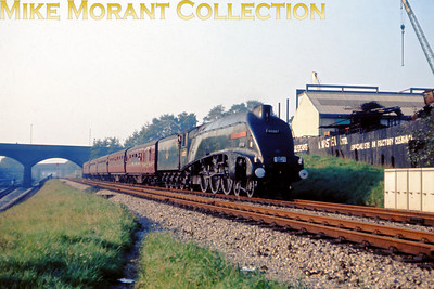 A4 Preservation Society The Paddington Streamliner Rail Tour 23/10/65 An early venture for the society saw the sponsorship of this tour from Manchester Exchange to Paddington behind Gresley A4 pacific no. 60007 Sir Nigel Gresley throughout. The loco was serviced at Southall mpd.