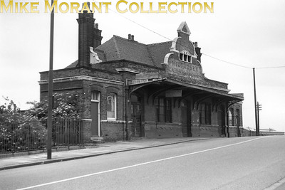 The derelict former GER Churchbury station building in June 1956. Churchbury had closed to passenger traffic as far back as July 1919 but all was inot lost as it would be reopened as Southbury just 5 months after this picture was taken. [Mike Morant collection]