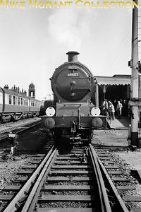 RCTS: East Anglian Rail Tour 6/9/53 Hill J20 class 0-6-0 no. 64685 at Bury St. Edmunds. [Mike Morant collection]