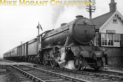 LNER Gresley K3 class mogul no. 146 departs from Sutton on the former GER line that connected Ely with St. Ives. No. 146 would become BR no. 61844 in December 1948 whilst allocated to New Ejngland and would see out its service at Thornaby in June 1961.
