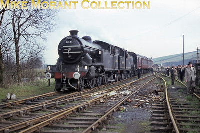 RCTS: The North Yorkshireman Rail Tour 25/4/64 According to the sixbellsjunction web site this tour was beset with problems that led to very late running. Some of this was allegedly attributable to steady Yorkshire rain which isn't as apparent in this shot of the unusual pairing of LNER Gresley V1 2-6-2T no. 67646, a Gateshead engine, and Stanier 4MT 2-6-4T no. 42639, a Darlington engine but for not much longer, taken at Middleton-in-Teesdale.