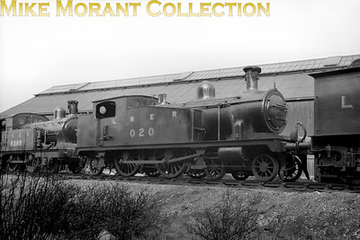 M&GN 4-4-2T no. 20 was a home built product emerging from the company's works at Melton Constable in February 1909 being the second built of the three members of this class just over four years after no. 41 entered service. The loco is depicted here rebranded as LNER no. 020 which occurred in November 1937.  No. 020 survived until April 1942 and was the first of the class to be withdrawn.