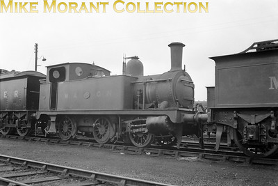 M&GNJR 'Melton 0-6-0T', otherwise not classified, no. 98 still with its M&GN number and markings. Its future LNER number 098 would be applied in August 1937 and in 1942 the class would be reclassified as LNER class J93. No. 09, renumbered yet again as 8482 in 1946, was withdrawn in January 1947. I suspect that this shot was taken immediately prior to the 1937 rebranding.