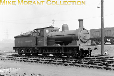 Wilson Worsdell J25 0-6-0 No. 65672 is depicted here in the earliest form of BR livery at Darlington mpd on 3/6/50.  Withdrawal for this long term resident was only 11 months away when this shot was taken.