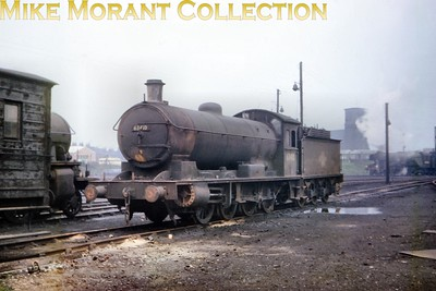 Raven Q6 class 0-8-0 no. 63410 was a West Hartleool engine when photographed here ar Darlington on 2/5/64. Although looking decidedly careworn 63410 would ontinue working until withdrawal at 51C in June 1966. [Slide taken by Mike Morant]