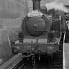 <b>London Transport: Uxbridge Line 50th Anniversary Party 4/7/54</b><br> London Transport 'E' class 0-4-4T no. L44 at Uxbridge LT station. L44 was a ppoignant choice because, in its original guise as Metropoltan no. 1, it had hauled the inugural service 50 years previously.<br> [<i>Mike Morant collection</i>]