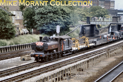 The last steam working as opposed to heritage on London Transport's metals seen here at Dollis Hill on 6/6/71 with pannier tank No. L94 doing the honours.