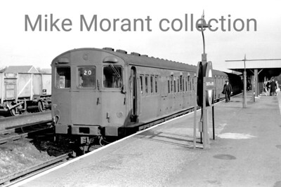 London Transport 'T' stock, formerly Metropolitan MW stock, in the Chesham bay platform at Chalfont & Latimer station. [Mike Morant collection]