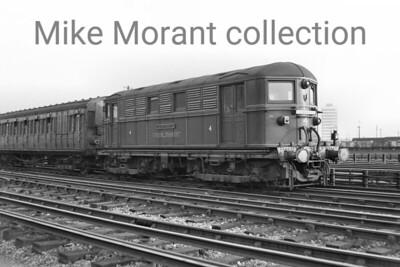 London Transport Metropolitan Vickers Bo-Bo- electric locomotive No. 4 Lord Byron at Neasden.