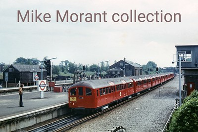 London Transport: Enthusiasts Tube Tour 6/6/76 LT 1938 tube stock departing Amersham and heading for New Cross.