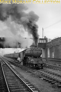Gresley V2 class 2-6-2 no. 60973 on freight duty at Carstairs on 25/3/61. 60973 was a Perth allocated engine at the time but would move to Dundee Tay Bridge mpd in July 1962 where she would remain until withdrawal in January 1966. [Mike Morant collection]