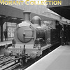 <b>London Transport: Uxbridge Line 50th Anniversary Party 4/7/54</b><br> London Transport 'E' class 0-4-4T no. L44 at Edgware Road station.<br> [<i>Mike Morant collection</i>]